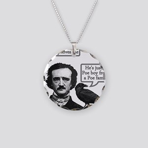 Poe Boy Necklace Circle Charm