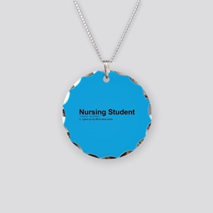 Nursing Student Definition Necklace Circle Charm