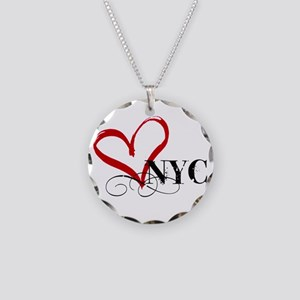LOVE NYC FANCY Necklace Circle Charm