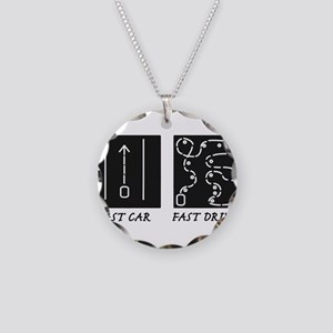 Fast Car Fast Driver Necklace Circle Charm