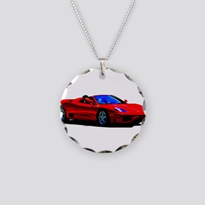Red Ferrari - Exotic Car Necklace Circle Charm