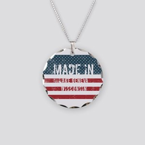 Made in Lake Geneva, Wiscons Necklace Circle Charm