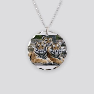 TIGERS Necklace Circle Charm