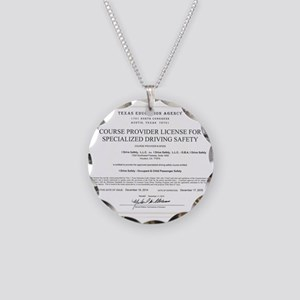 Driving Certificate Necklace Circle Charm