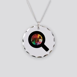 Finding Color Necklace Circle Charm