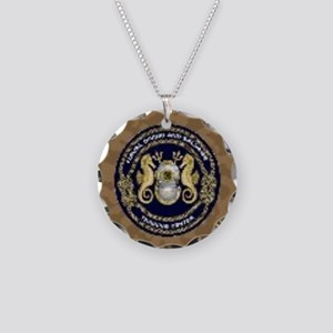 US Navy Diver Necklace Circle Charm