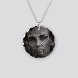 Abe, Distressed, Necklace Circle Charm