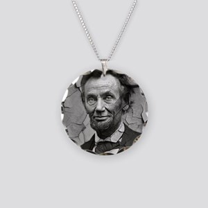 Worn, Abe Lincoln, Necklace Circle Charm