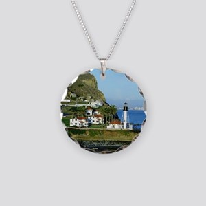 Point Loma Lighthouse Necklace Circle Charm