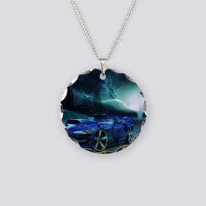 FASTER THAN LIGHTENING Necklace Circle Charm