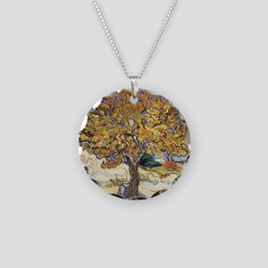 Mulberry Tree by Vincent Van Necklace Circle Charm