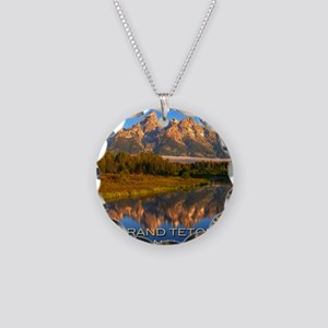 Tetons2 Necklace Circle Charm