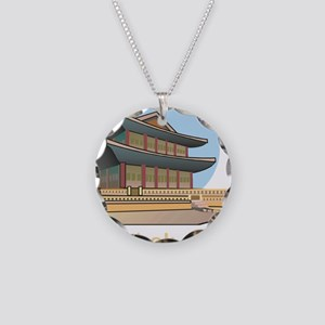 Kyongbok Palace1Bk Necklace Circle Charm