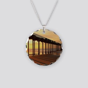 Scripps-Pier-Sunset1 Necklace Circle Charm