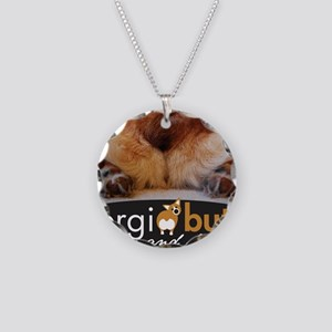 corgibuttscover Necklace Circle Charm