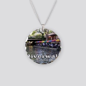 Riverwalk, San Antonio,TEXAS Necklace Circle Charm