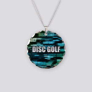Disc Golf Necklace Circle Charm