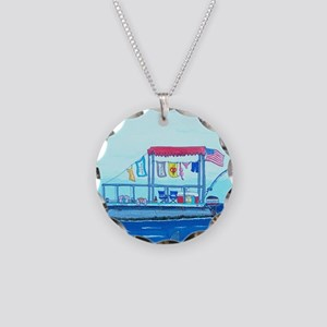 Pontoon Lagoon Necklace Circle Charm