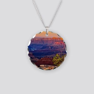 Grand Canyon Sunset Necklace Circle Charm