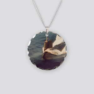 shark framed panel print Necklace Circle Charm