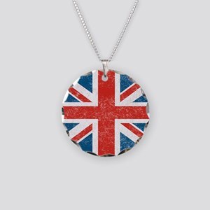 vintage-union-jack-big Necklace Circle Charm