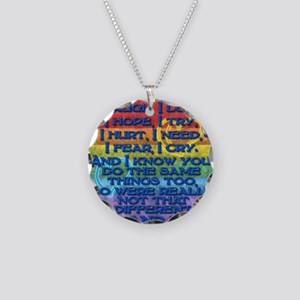 Gay Lesbian Pride Poem Necklace Circle Charm