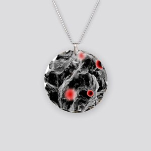 FAST-ACT toxin-destroying po Necklace Circle Charm