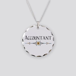Accountant Decorative Line Necklace Circle Charm