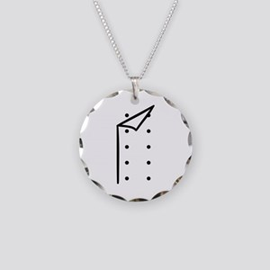 Chef uniform Necklace Circle Charm