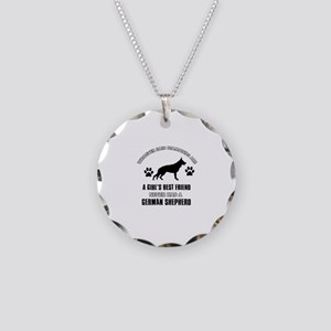 German Shepherd Mommy designs Necklace Circle Char