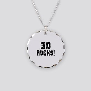 30 Rocks Birthday Designs Necklace Circle Charm