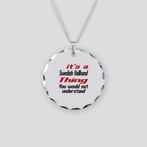 It's Swedish Vallhund Dog Th Necklace Circle Charm
