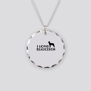 I Love Beauceron Necklace Circle Charm