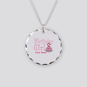 Birthday Girl - Customized Necklace Circle Charm