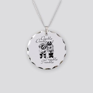 Baby Pygmy Goats Double Trouble Necklace Circle Ch