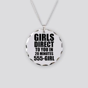 Girls Direct to You Necklace Circle Charm