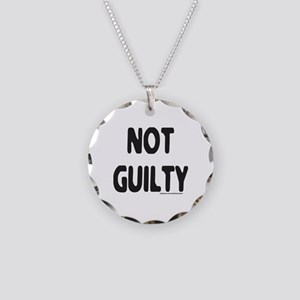NOT GUILTY Necklace Circle Charm