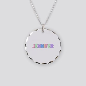 Jennifer Rainbow Pastel Necklace Circle Charm
