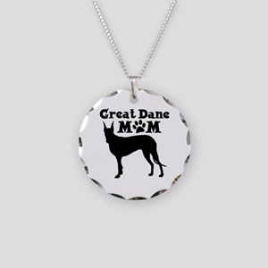 Great Dane Mom Necklace Circle Charm