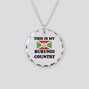 This Is My Burundi Country Necklace Circle Charm