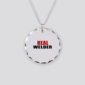 Real Welder Necklace Circle Charm