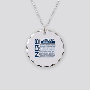 NCIS Gibbs' Rules Necklace Circle Charm
