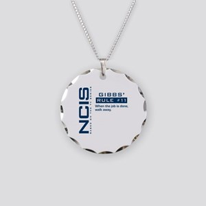 NCIS Gibbs' Rule #11 Necklace Circle Charm