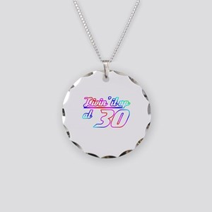 30th Birthday Party Necklace Circle Charm