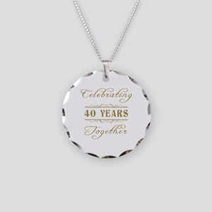 Celebrating 40 Years Together Necklace Circle Char