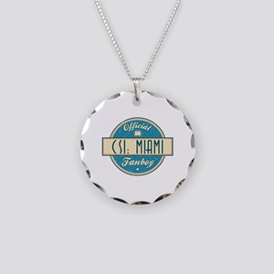 Official CSI: Miami Fanboy Necklace Circle Charm