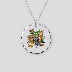 Animal Safari Necklace Circle Charm