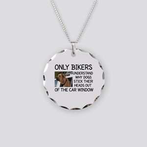 ONLY BIKERS UNDERSTAND WHY D Necklace Circle Charm