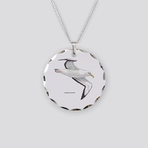 Wandering Albatross Bird Necklace Circle Charm