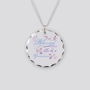 Blessed To Be A Grandma Necklace Circle Charm